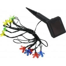 Садовая гирлянда из 10 разноцветных цветочков SL-PL400-FLW10