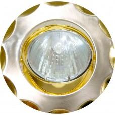 Светильник встраиваемый Feron 703 потолочный MR16 G5.3 титан-золото