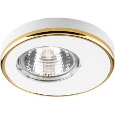 Светильник встраиваемый Feron DL1A потолочный MR16 G5.3 белый-золото
