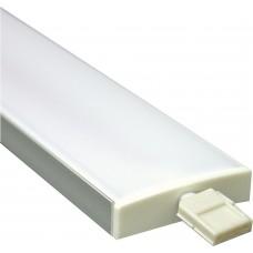 Профиль алюминиевый широкий, серебро, CAB284