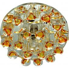 Светильник встраиваемый Feron 1550 потолочный JCD9 G9 желтый-прозрачный