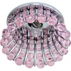 Светильник встраиваемый Feron CD2120 потолочный JCD9 G9 розовый, хром