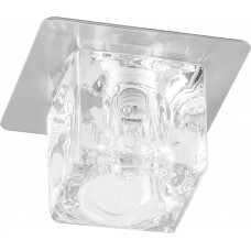 Светильник встраиваемый Feron BS 125-FB потолочный JCD G9 прозрачный, титан