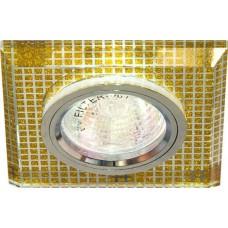 Светильник потолочный, MR16 G5.3 прозрачный,золото,серебро 8141-2