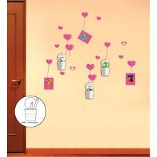 Декоративная наклейка на стену Feron NL92 со стаканами