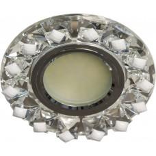 Светильник встраиваемый с белой LED подсветкой Feron CD7570 потолочный MR16 G5.3 прозрачно-белый