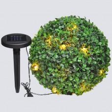 """Светильник садово-парковый на солнечной батарее """"Самшит"""", 24 белый LED, D 275мм , E5208"""