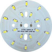 LB-1764, светодиодный модуль на алюм.плате, 9W 18 LED SMD5730 495Lm 6400K D63mm