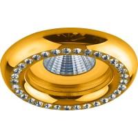 Светильник встраиваемый Feron DL113-C потолочный MR16 G5.3 золотистый