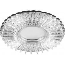 Светильник встраиваемый с белой LED подсветкой Feron CD900 потолочный MR16 G5.3 белый