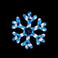 Световая фигура 230V 2м LED белый+синий, 24 LED/1м, 4.8W, 20mA, IP 44, шнур 1м х1мм, LT001