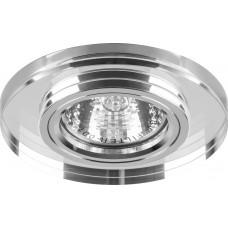 Светильник встраиваемый с белой LED подсветкой Feron 8060-2 потолочный MR16 G5.3 серебристый