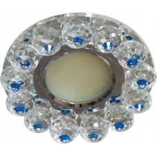 Светильник встраиваемый с белой LED подсветкой Feron CD7070 потолочный MR16 G5.3 прозрачно-голубой