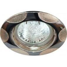 Светильник встраиваемый Feron 156T-MR16 потолочный MR16 G5.3 хром-серебро