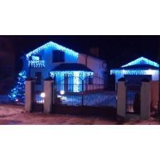 Гирлянда уличная Бахрома синяя 3м