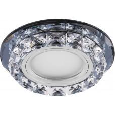 Светильник встраиваемый с белой LED подсветкой Feron CD878 потолочный MR16 G5.3 прозрачный