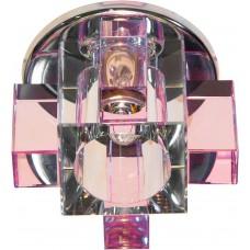 Светильник встраиваемый Feron C1037P потолочный JCD G9 прозрачно-розовый