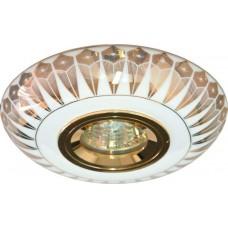 Светильник встраиваемый Feron C2727 потолочный MR16 G5.3 бело-золотистый
