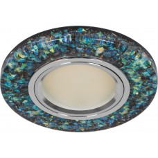 Светильник встраиваемый с белой LED подсветкой Feron 8585-2 потолочный MR16 G5.3 зеленый