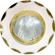 Светильник встраиваемый Feron 703 потолочный MR16 G5.3 жемжучное серебро-золото