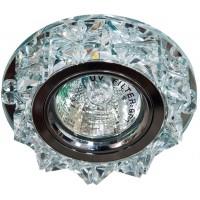 Светильник встраиваемый с белой LED подсветкой Feron CD2917 потолочный MR16 G5.3 прозрачный