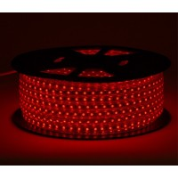 Светодиодная лента 220V GY-SMD3014-120L-R (12W/M) красный