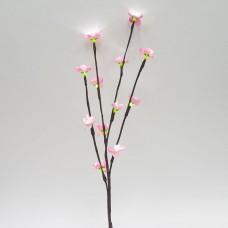Ветка декоративная светодиодная Feron LD210B c белой подсветкой от сети, высота 60 см