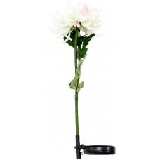 """Светильник садово-парковый на солнечной батарее """"Хризантема"""" белый, 1 LED белый, PL305"""