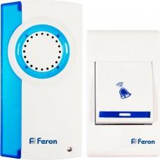 Звонок дверной беспроводной Feron Е-221 Электрический 32 мелодии белый синий с питанием от батареек