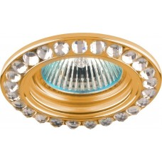 Светильник встраиваемый Feron DL111-C потолочный MR16 G5.3 золотистый
