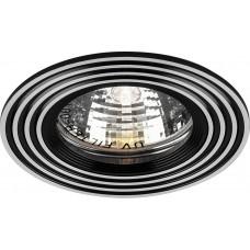 Светильник встраиваемый Feron CD2300 потолочный MR16 G5.3 серебристый-черный