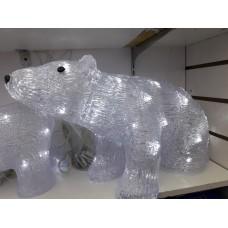 Акриловый светодиодный Медведь толстый 60 см, питание от сети 220V, диммер