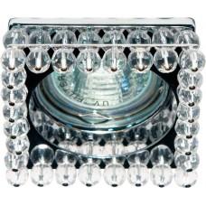Светильник встраиваемый Feron CD2131 потолочный MR16 G5.3 прозрачный, хром