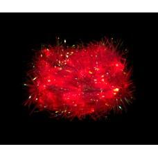 Светодиодная гирлянда Feron CL40 мишура 230V красный c питанием от сети