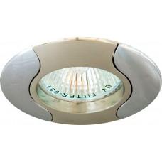 Светильник встраиваемый Feron 020T-MR16 потолочный MR16 G5.3 титан-хром
