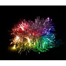 Светодиодная гирлянда Feron CL404 мишура разноцветная с питанием от батареек