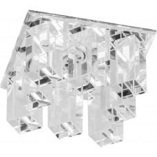 Светильник встраиваемый с белой LED подсветкой Feron JD120 потолочный JCD9 G9 прозрачный