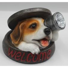 Облик 488 садовый фонарь щенок