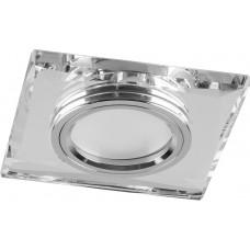Светильник встраиваемый с белой LED подсветкой Feron 8170-2 потолочный MR16 G5.3 серебристый