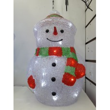 Акриловый светодиодный Снеговик 40 см, питание от сети 220V