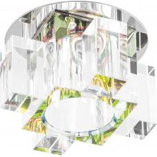 Светильник встраиваемый Feron C1037G потолочный JCD G9 прозрачно-зеленый