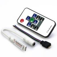 Mini Контроллер RGB радио с пультом, 5-24Вольта,12А (SBL-RGB-Mini)
