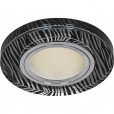 Светильник встраиваемый с белой LED подсветкой Feron 8383-2 потолочный MR16 G5.3 черно-белый