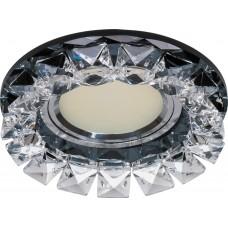 Светильник встраиваемый Feron CD2929 потолочный MR16 G5.3 прозрачный-черный