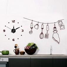Часы-наклейка на стену Feron NL35 с питанием от батареек