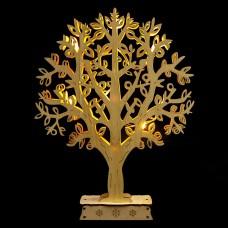 Деревянная световая фигура, 10LED, цвет свечения: теплый белый, 24*4,5*31 см, батарейки 2*AA , IP20, LT094