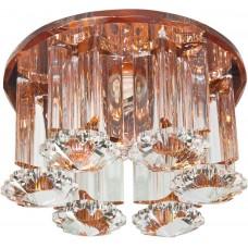 Светильник встраиваемый Feron 1526 потолочный JCD9 G9 коричневый-прозрачный