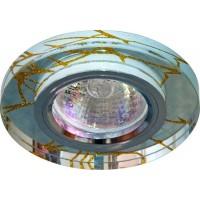 Светильник потолочный, MR16 G5.3 прозрачный-золото, хром, 8049-2