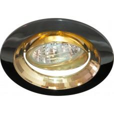 Светильник встраиваемый Feron 2009DL потолочный MR16 G5.3 черный металлик-золото