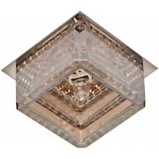 Светильник встраиваемый Feron CD2818 потолочный JCD G9 прозрачно-черный, золотой